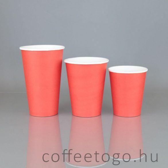 Piros papírpohár 450ml