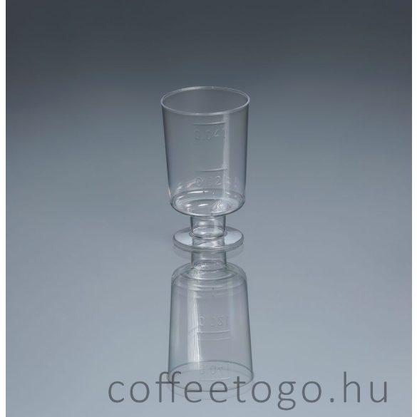 Talpas röviditalos műanyag pohár 2-4cl
