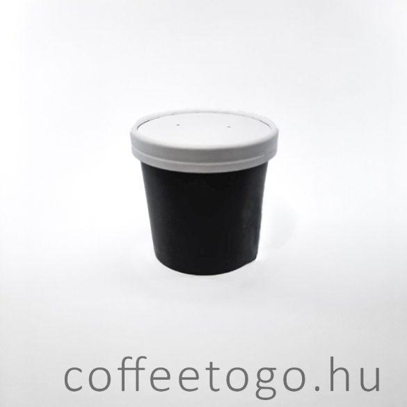 Papírtető SoupToGo leveses papírpohárhoz (500ml/98mm) fehér GRANADA lebomló papír + PLA