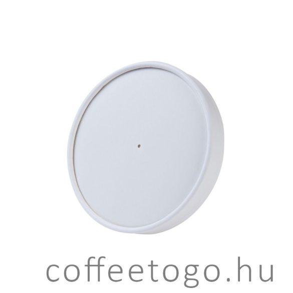 Papírtető SoupToGo leveses papírpohárhoz (500ml/118mm) fehér -MALAGA-