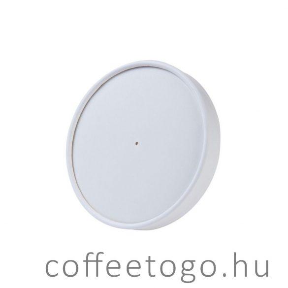 Papírtető SoupToGo leveses papírpohárhoz (500ml/118mm) fehér MALAGA