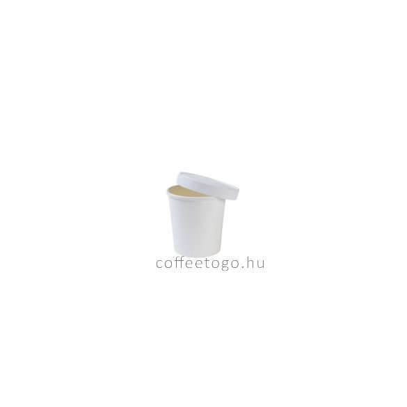 SoupToGo leveses papírpohár 300ml fehér (90mm) GRANADA