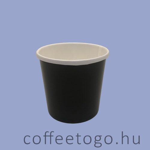 SoupToGo leveses papírpohár 300ml (fekete) (90mm)