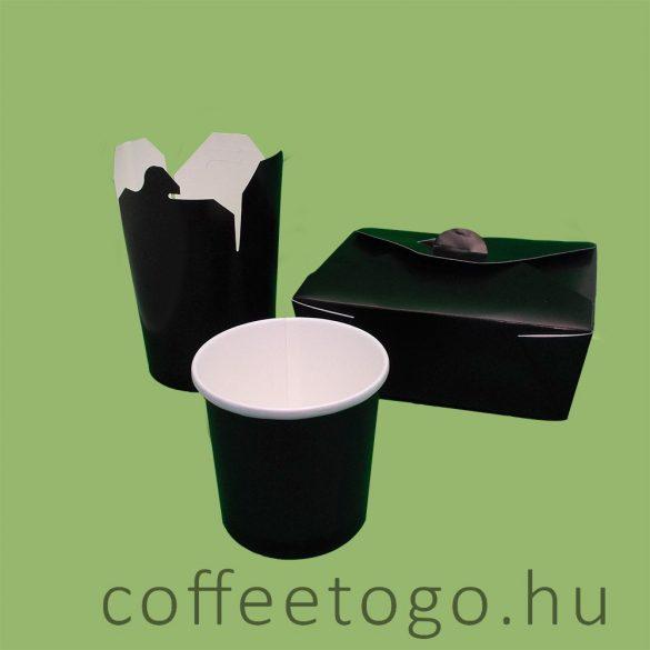 SoupToGo leveses papírpohár 300ml fekete (90mm) GRANADA