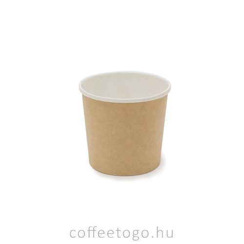 SoupToGo leveses papírpohár 300ml (kraft) (90mm)