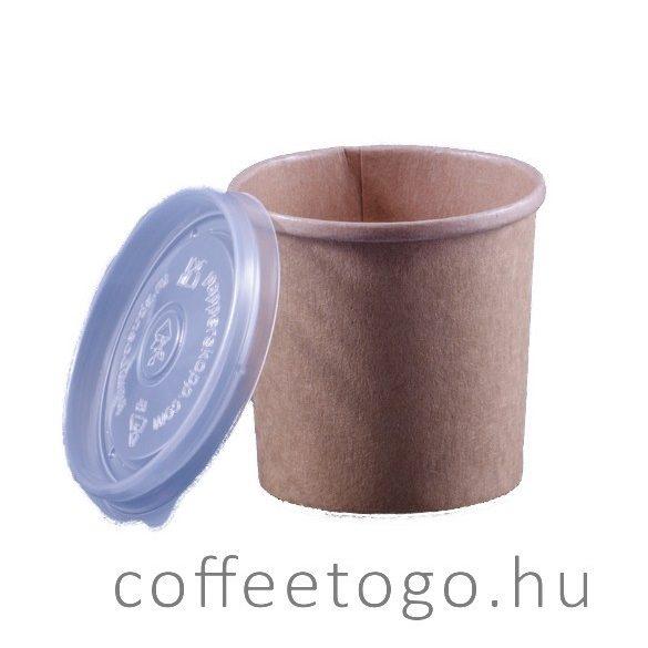 SoupToGo leveses papírpohár 350ml kraft (96mm)