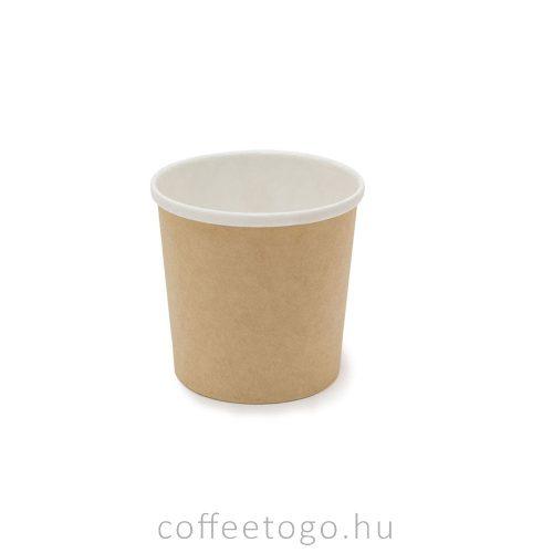 SoupToGo leveses papírpohár 500ml (kraft) (98mm)