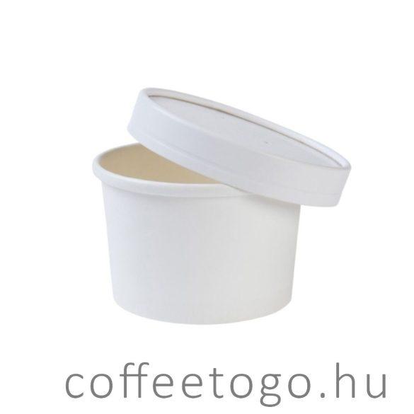 SoupToGo leveses papírpohár 500ml fehér (118mm) MALAGA