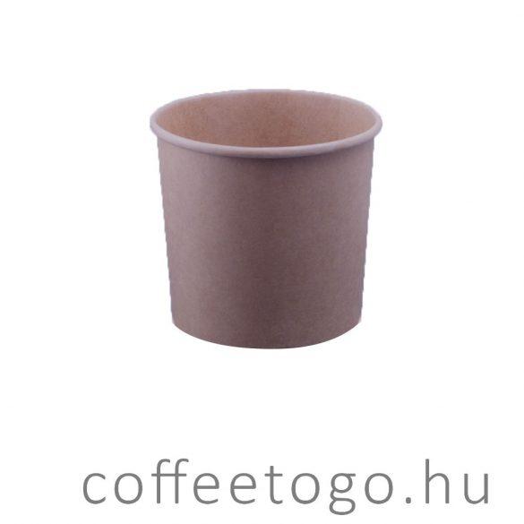 SoupToGo leveses papírpohár 500ml kraft (96mm)