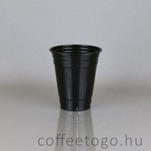 Fekete műanyag pohár
