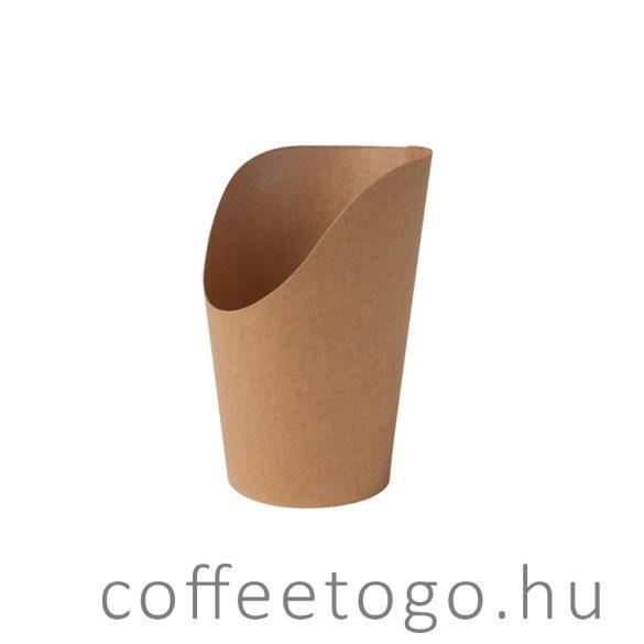 Snack papírpohár 450ml (kraft)