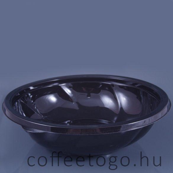 Salátás doboz 1000ml fekete  (K)