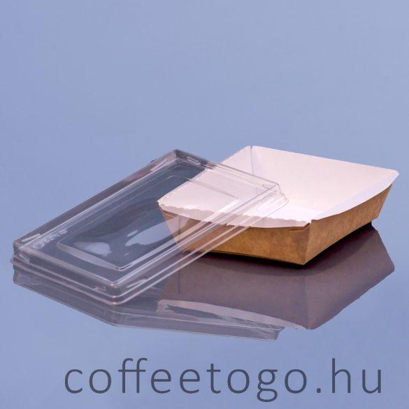 Papír szögletes doboz + műanyag tető 800ml