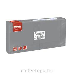 Szürke szalvéta 25x25cm, 2 rétegű