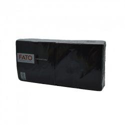 Fekete szalvéta 25x25cm, 2 rétegű
