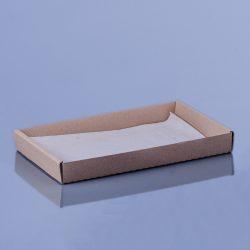 Hamburgeres peremes papírtálca 25,9 x 16,4 x 3cm (közepes)