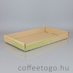 Hamburgeres peremes papírtálca 28,5 x 21,5 x 4cm  (nagy)