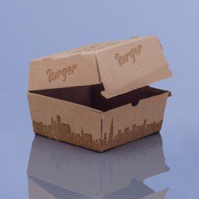 Hamburger és burgonyás doboz