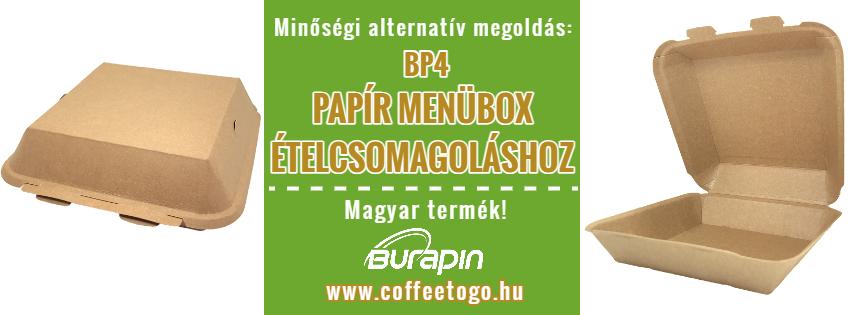 BP4 papír menübox papírdoboz
