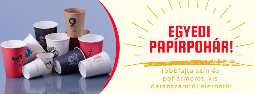 egyedi papírpohár nyomás